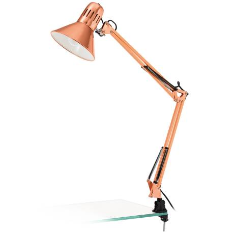 Настолна лампа 1хE27 щипка медно FIRMO
