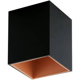 СПОТ открит монтаж LED 3,3W 340lm 100X100 черно/мед POLASSO