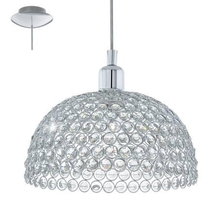 Пендел-висяща лампа 1хE27 Ø285 хром/прозр. GILLINGHAM
