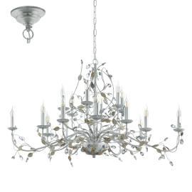 Пендел-висяща лампа 1х5 E14 сребро с кристали FLITWICK 1