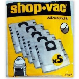 Торбички за прахосмукачка Shop Vac, 8 литра, 5 броя