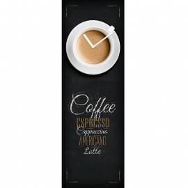 Стенен часовник кафе, стъклен, 20x60 см