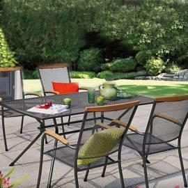 Метален градински комплект, маса и столове - 4бр