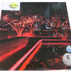Led светлинен маркуч - 6 м, червен