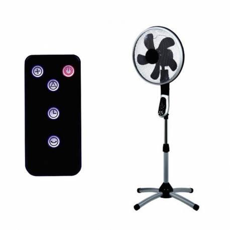 Стоящ вентилатор, 40 см, с дистанционно, въртене на 360°, 55 W