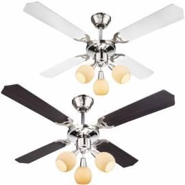 Таванен вентилатор с осветление - 3хЕ14 (40 W),  107см - диаметър, 4 перки