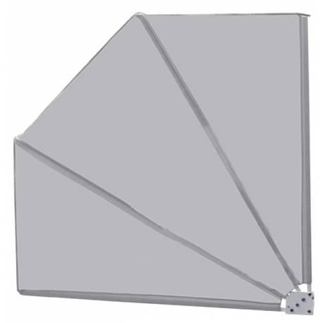 Параван за балкон - сребърно сив - тип Ветрило 140x140 см