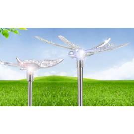 Соларни лампи - пеперуда и водно кончe, 4 бр. в комплект