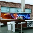 Гланцов принт - термоустойчив гръб за кухня - Абстракт