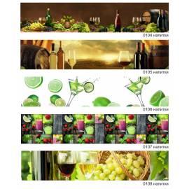 Imagén: Напитки - термоустойчив гръб за кухня - гланц, 1830 x 604 х 8 мм