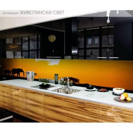 Термоустойчив гръб за кухня - принт - Животни