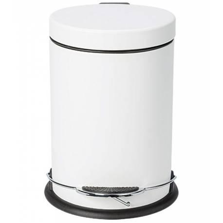 Кош за боклук 3 л, метал, цвят - бял