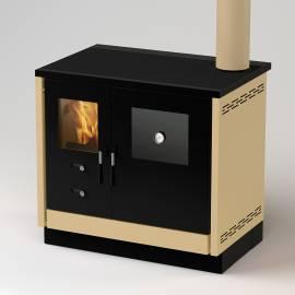 Imagén: Готварска  печка на твърдо гориво без водна риза AS - 12 kW, суха, цвят крем