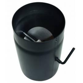 Кюнец с клапа - ф150 мм, 250 мм, черен мат