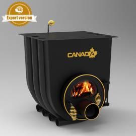 Печка на дърва Canada 01 - със стъкло, за отопление и готвене - до 260 куб.м