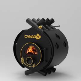 Печка на дърва Canada 02 - със стъкло и защита - до 400 куб.м