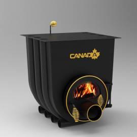 Печка на дърва Canada 02 - със стъкло, за отопление и готвене - до 525 куб.м