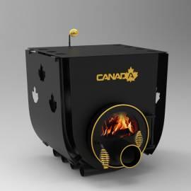 Печка на дърва Canada 02 - със стъкло и защита, за отопление и готвене - до 525 куб.м