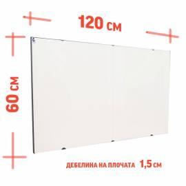 Инфрачервен панел СR1000 - бял, керамика и метал - до 18 кв.м, само за стена, без термостат