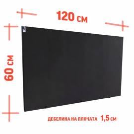 Лъчист конвектор СR1000 - черен, керамика и метал - до 18 кв.м