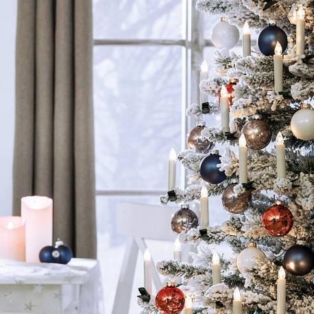 Коледни свещи -20 броя, без кабел, с дистанционно