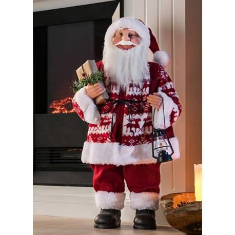 Дядо Коледа с фенер - 60 см