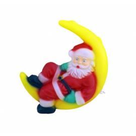 Дядо Коледа седнал на луна, висящ - д 25cm, ш 42cm, в 83cm.