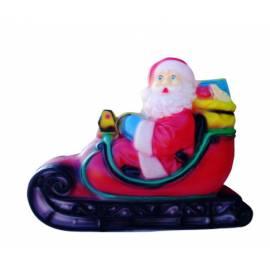 Дядо Коледа на шейна - д 50cm, ш 19cm, в 62cm