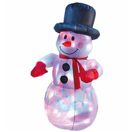 Снежен човек 120 см, полиестер LED
