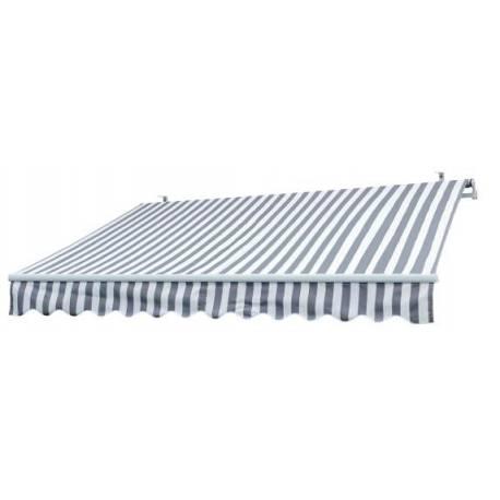 Тента полиестерна -3 x 2 м - сиво/бяло