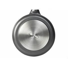 Дълбок тиган с мобилна дръжка и капак - h 8см - ∅ 28 - SKK