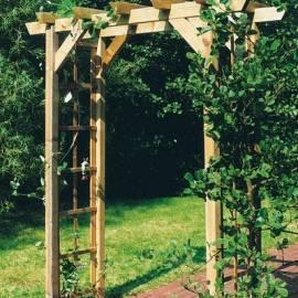 Дървена арка - 218x160x72 см