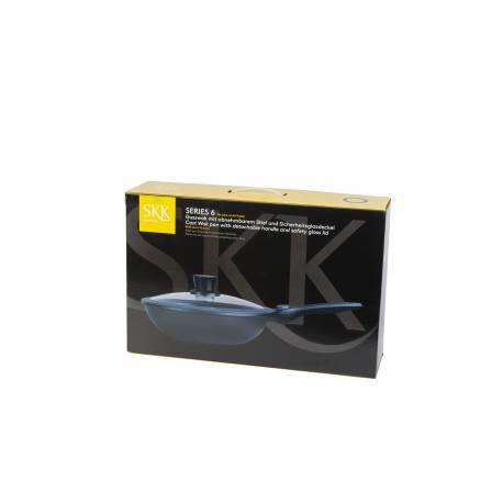 Тиган WOK с мобилна дръжка и капак - h 8 см - ∅ 28 - SKK