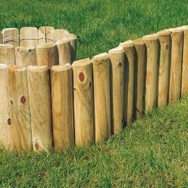 Дървени ролки за лехи - 4,6 x 40 x 250 см