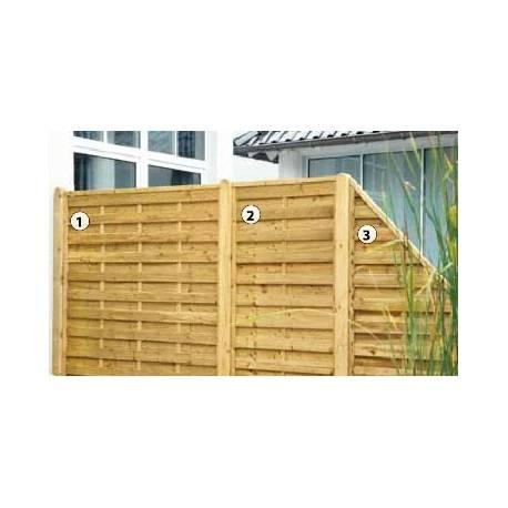 Дървена ограда - 180x 180 см