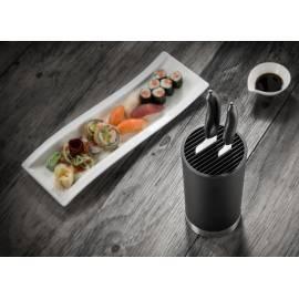 Комплект от 2 бр.керамични ножове ( бяло острие) + блок за ножове - Kyocera