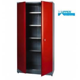 Висок шкаф за инструменти -  метален - 2 врати, 45 х 91 х 180 см)