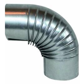 Коляно за кюнец, Ø120 мм, 90°, алуминизирано