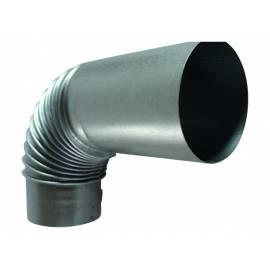 Коляно за кюнец с удължение, Ø120 мм, 90°, алуминизирано