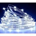 LED освеление -  верига 2 м, студено-бяла светлина,  10 стринга, 200 диода