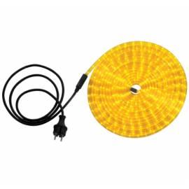 LED светещ деко маркуч - за градина, 9м , 216 диода, жълт
