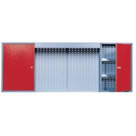 Стенен шкаф  метален - 160 x 60 x 19 см, перфориран панел