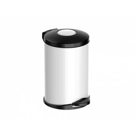 Кошче за боклук с педал 14 л, Opera, white and black