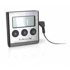 Цифров термометър с таймер и сонда - Vin Bouquet