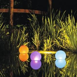 Соларна топка LED - сменящи се цветове