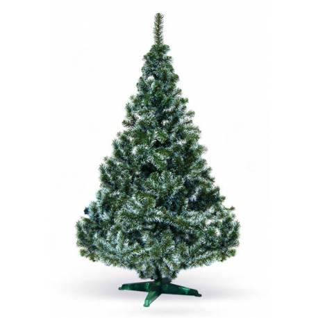 Елха 120 см - фолийна зелена, с бял връх, в кутия