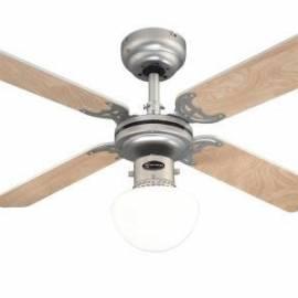 Таванен вентилатор Бунгония - 4 перки, осветително тяло Опал, 105 см