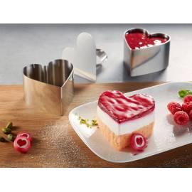 GEFU Комплект форми за декориране на ястия, десерти и салати - сърце - 3 части