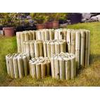 Дървени ролки за лехи -  2 x 20 x 150 см