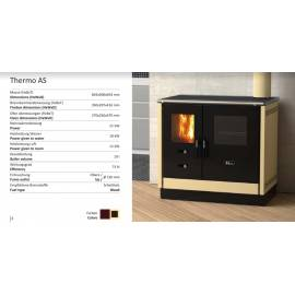 Готварска  печка на твърдо гориво с водна риза Thermo AS - 21 kW, цвят крем